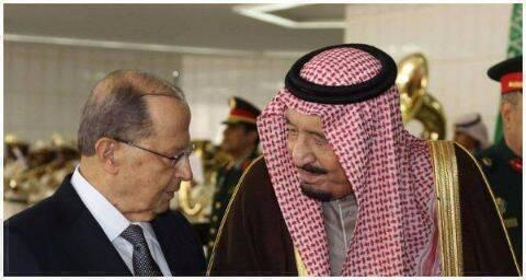 الملك سلمان والرئيس ميشال عون