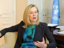 أوضحت المنسقة الخاصة للأمم المتحدة السفيرة سيغريد كاغ بعد لقائها