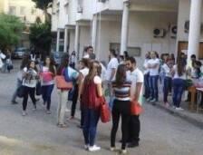 كان طلاب كلية الإعلام والتوثيق في الجامعة اللبنانيّة في الفنار على