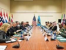 دشن التحالف الدولي بقيادة أميركا لمحاربة «داعش»، لدى اجتماع وزراء