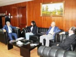 استقبل وزير الشباب والرياضة العميد الركن عبد المطلب حناوي، في