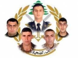 نعت قيادة الجيش اللبنانيعدداً من العسكريين الذين استشهدوا