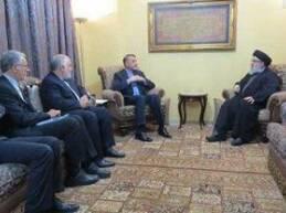 """إستقبل الأمين العام لـ""""حزب الله"""" السيد حسن نصر الله، مساعد وزير"""