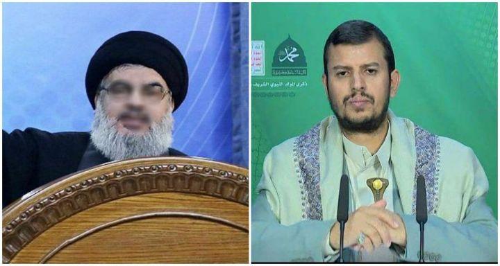 حسن نصر الله وعبد الملك الحوثي